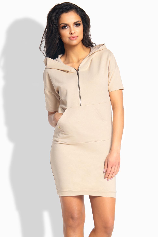 Dámské šaty L190 - Lemoniade Barva: béžová, Velikost: L