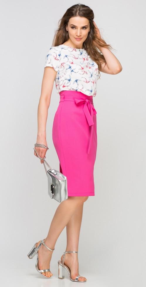 Dámská sukně pouzdrová SP115 - Lanti Barva: růžová, Velikost: 36