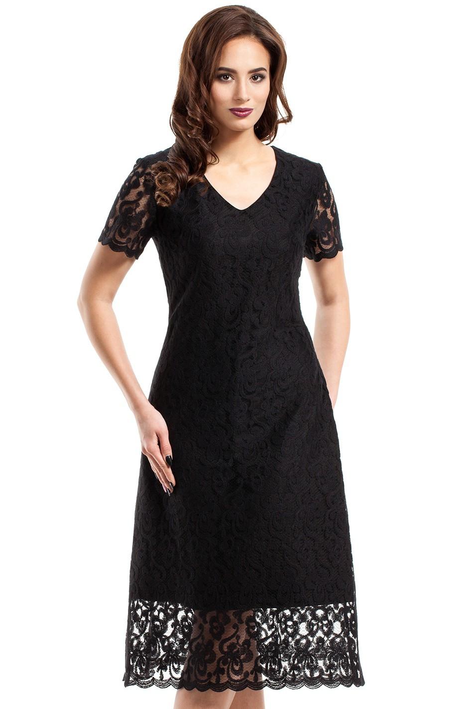 Dámské šaty 275 - MOE Barva: černá, Velikost: XL-42