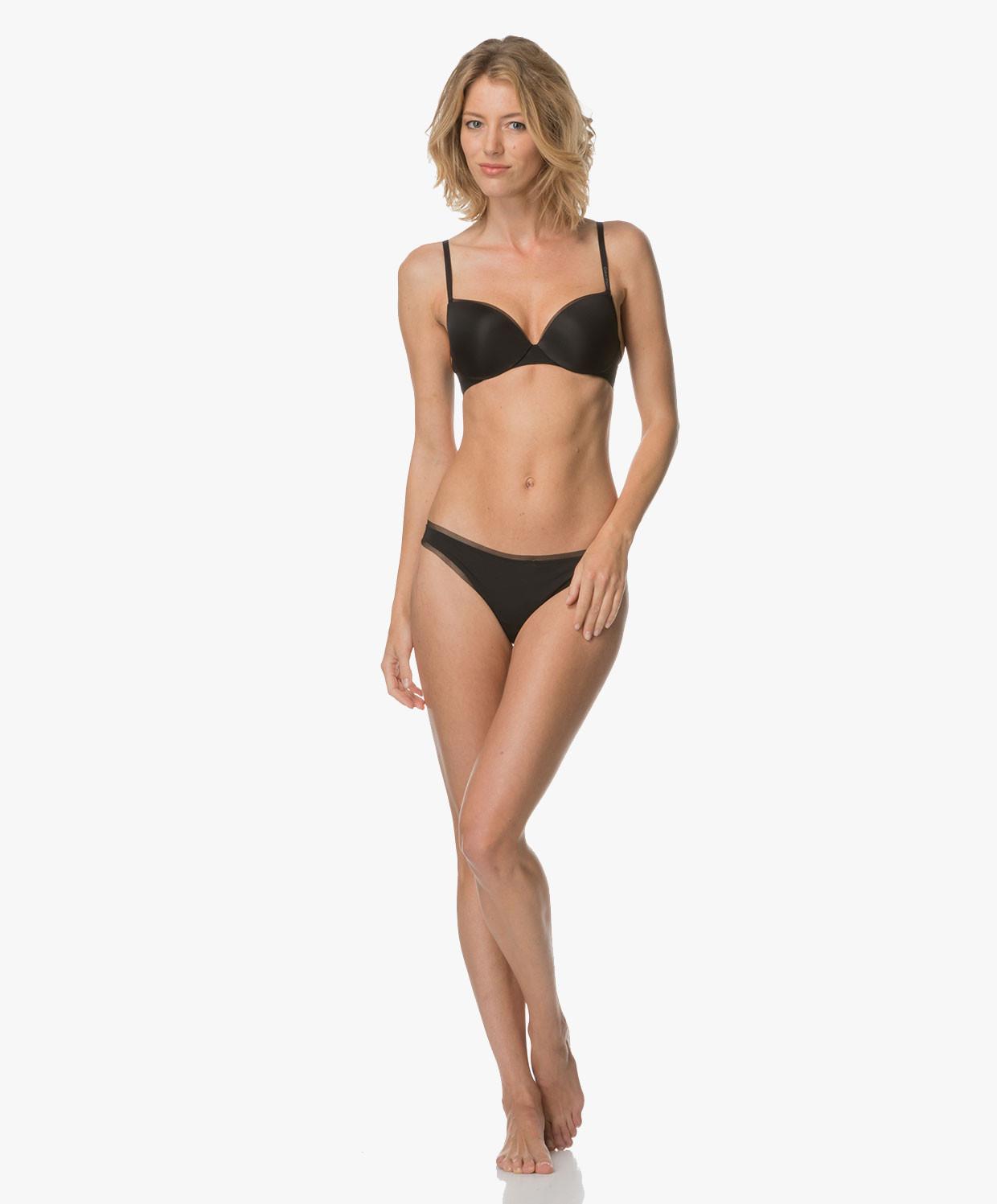 Vyztužená podprsenka Demi Lift QF1738E - Calvin Klein Barva: černá, Velikost: 75D
