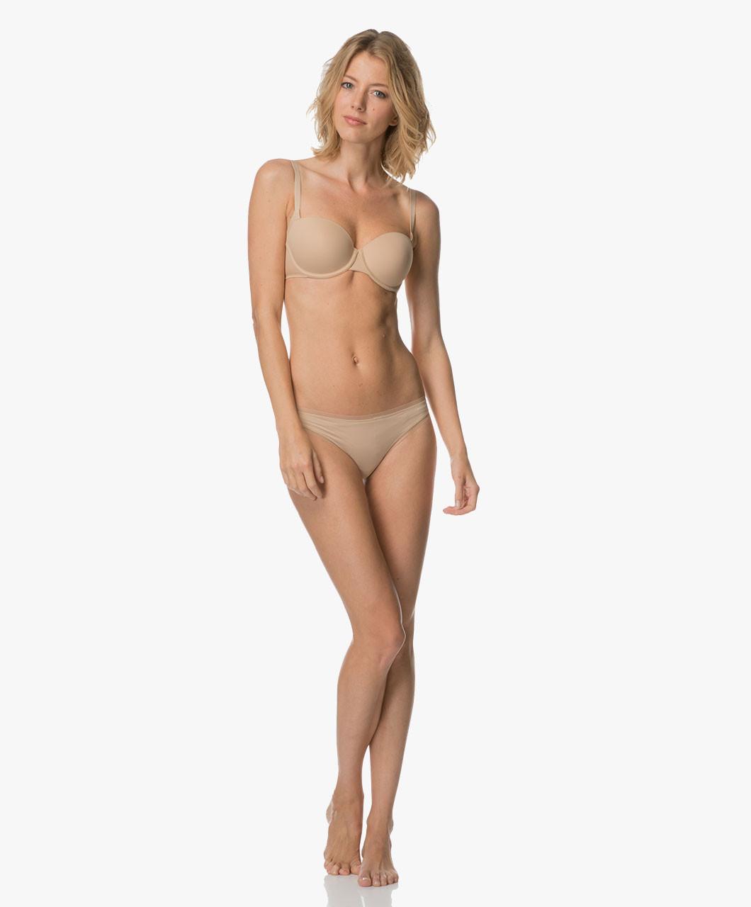 Podprsenka balkonová QF1833E tělová - Calvin Klein Barva: tělová, Velikost: 75D