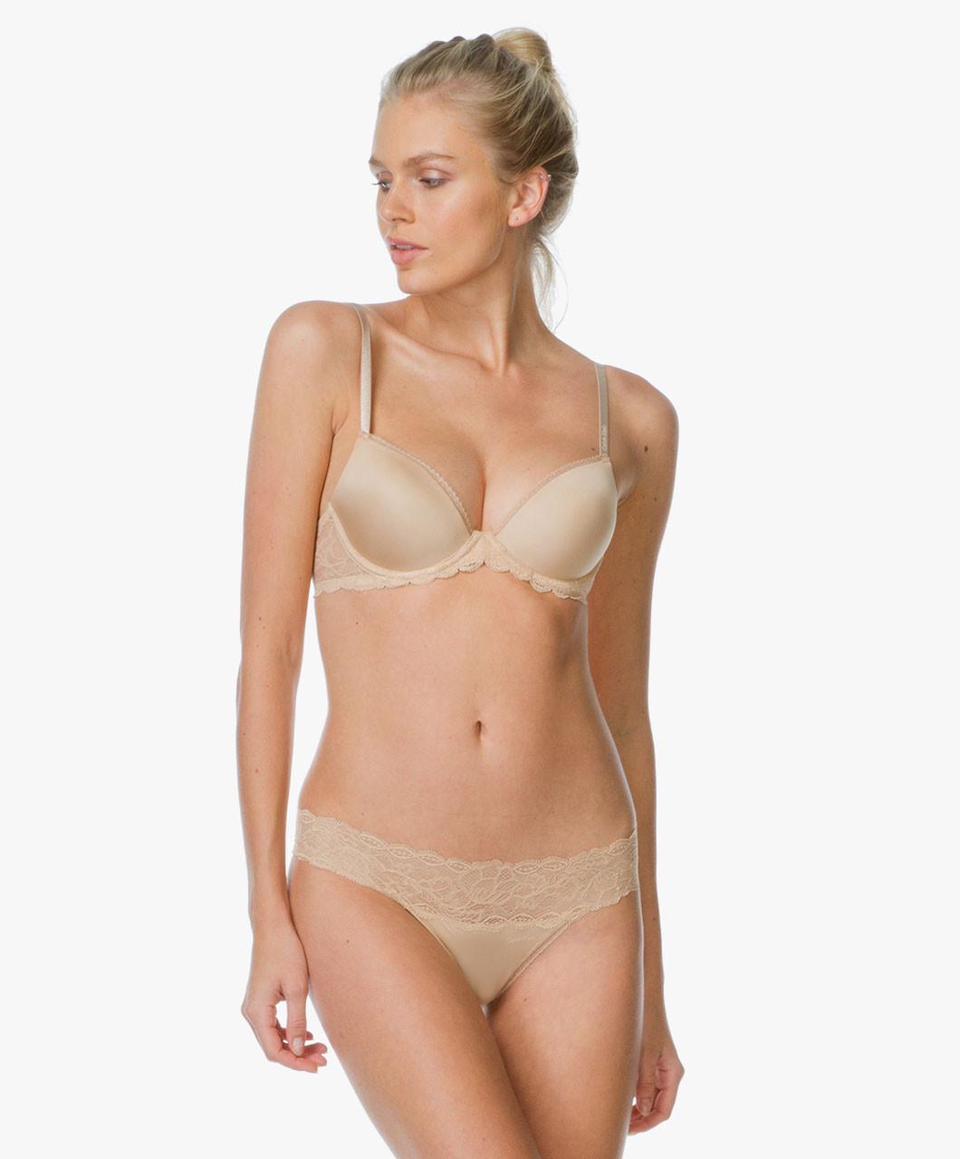 Kalhotky Seductive Comfort Lace F1199E - Calvin Klein Barva: hnědá, Velikost: M
