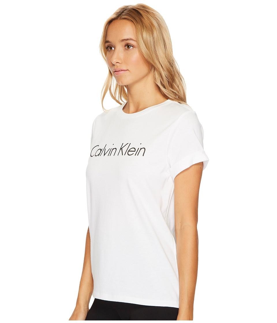 Dámské tričko QS5789E - Calvin Klein Barva: bílá, Velikost: L