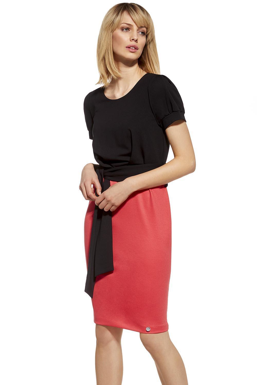 Dámské šaty 230048DR - Ennywear černo-červená 40