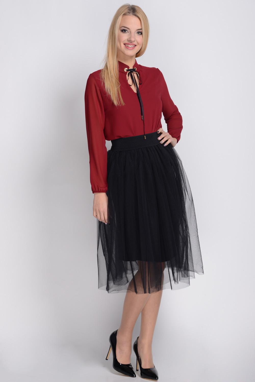 Dámská tylová sukně SP-101 - Avaro Barva: černá, Velikost: uni