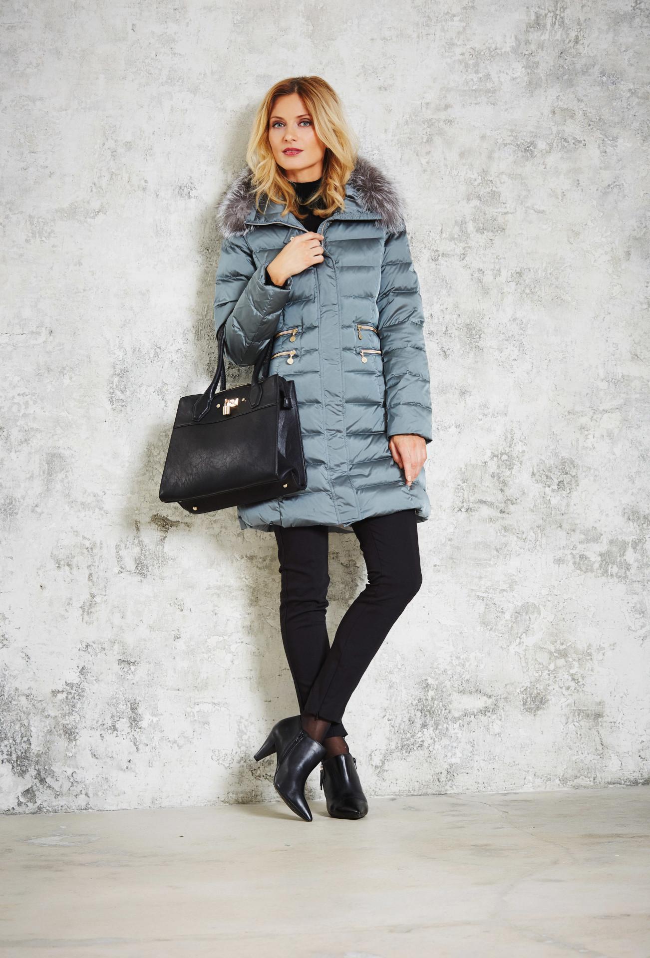 Dámský péřový kabát 2850-63 Junge šedá 50
