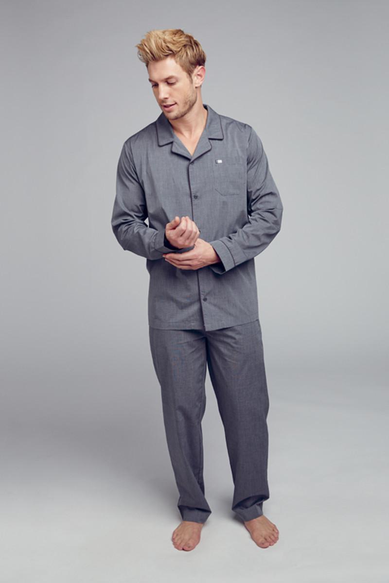 Pánské pyžamo 500331 - Jockey šedá XXL