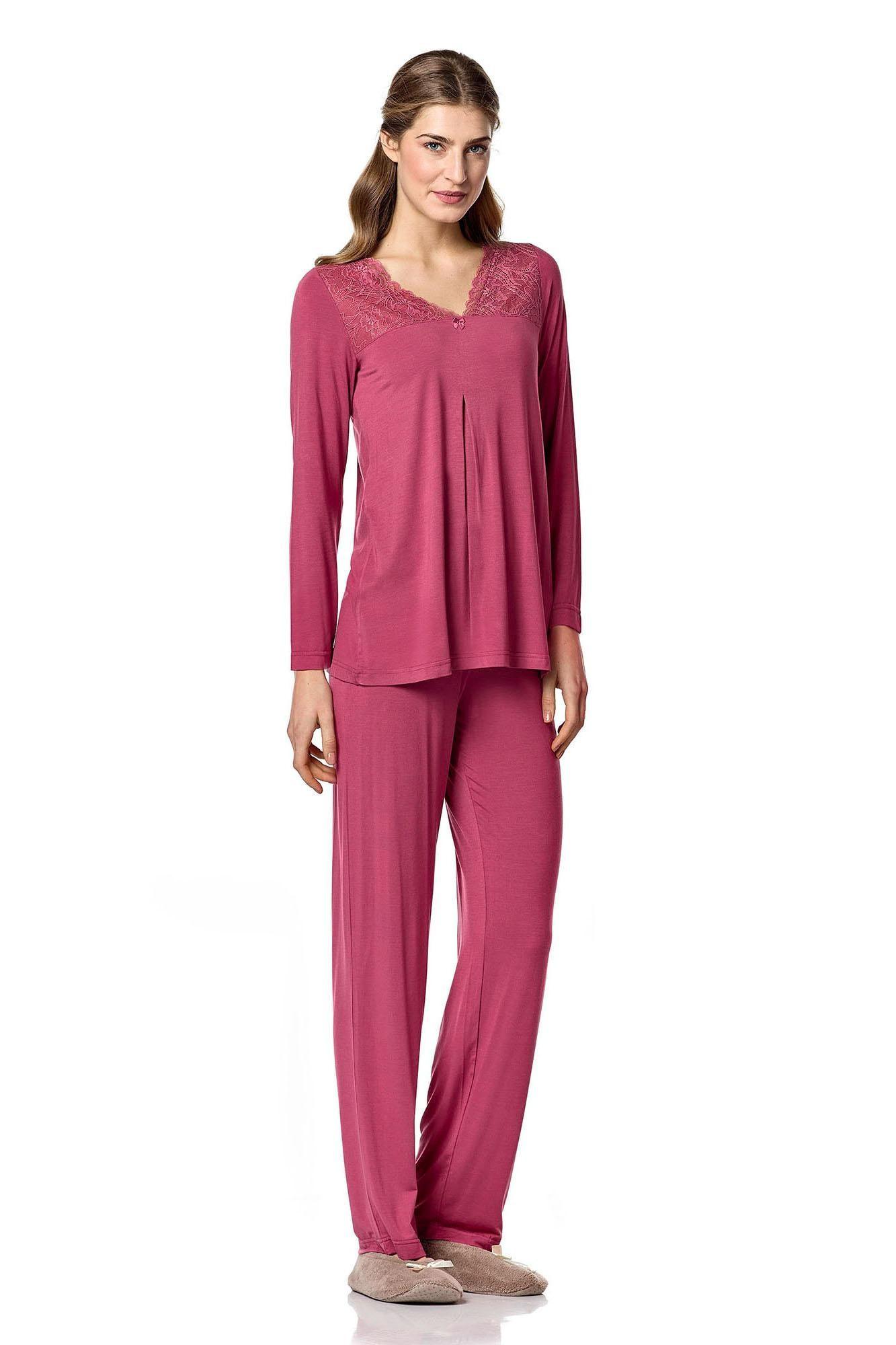 Dámské pyžamo 4786 - Vamp Barva: tm.růžová, Velikost: XL