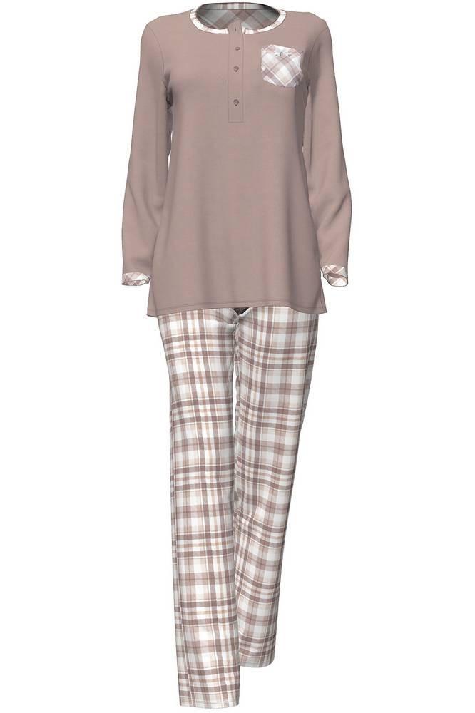 Dámské pyžamo 4713 - Vamp Barva: hnědá, Velikost: XL