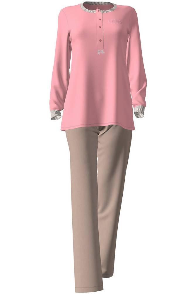 Dámské pyžamo 4962 - Vamp Barva: růžovo-hnědá, Velikost: M