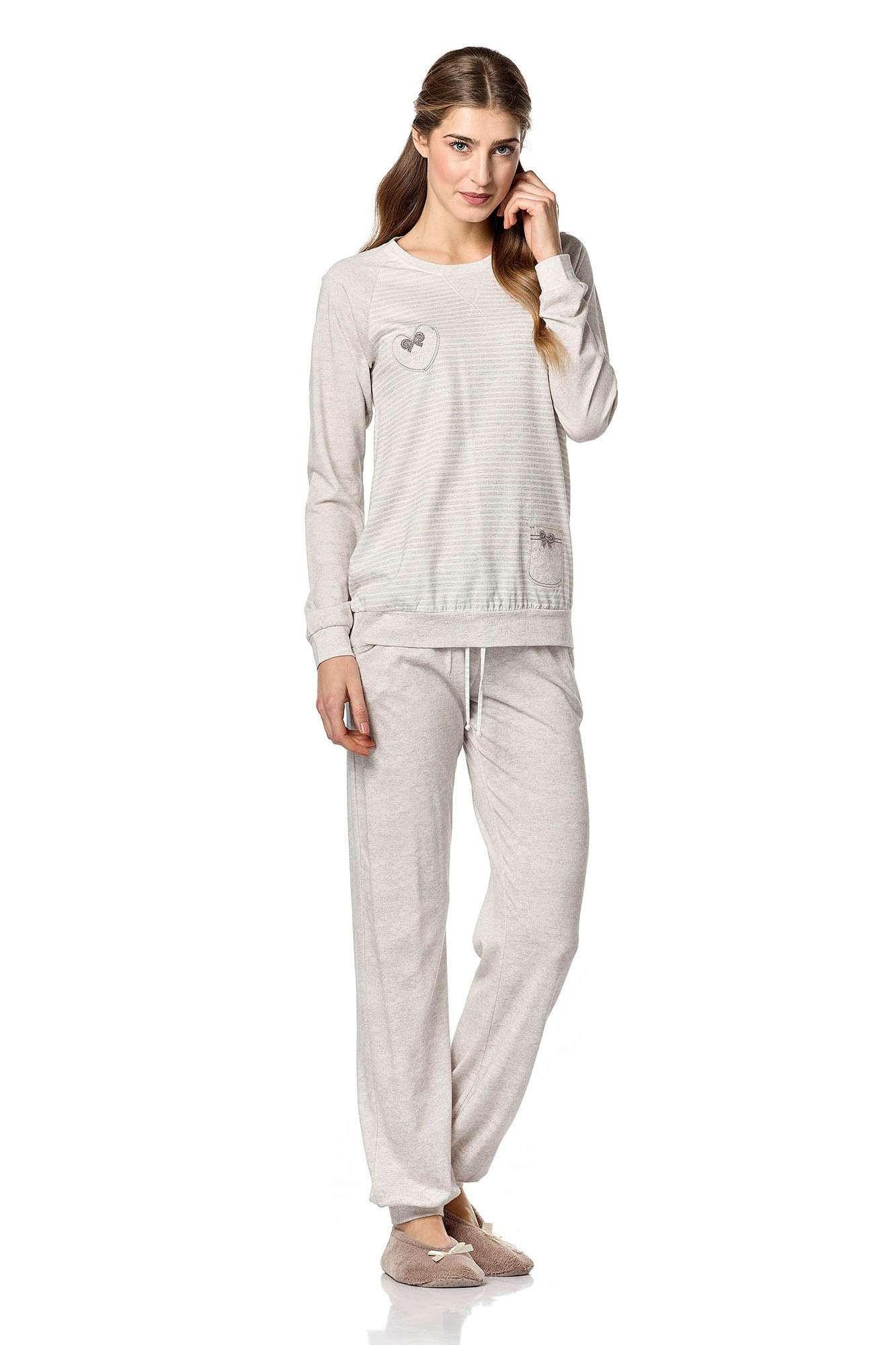 Dámské pyžamo 4743 - Vamp Barva: béžová, Velikost: L
