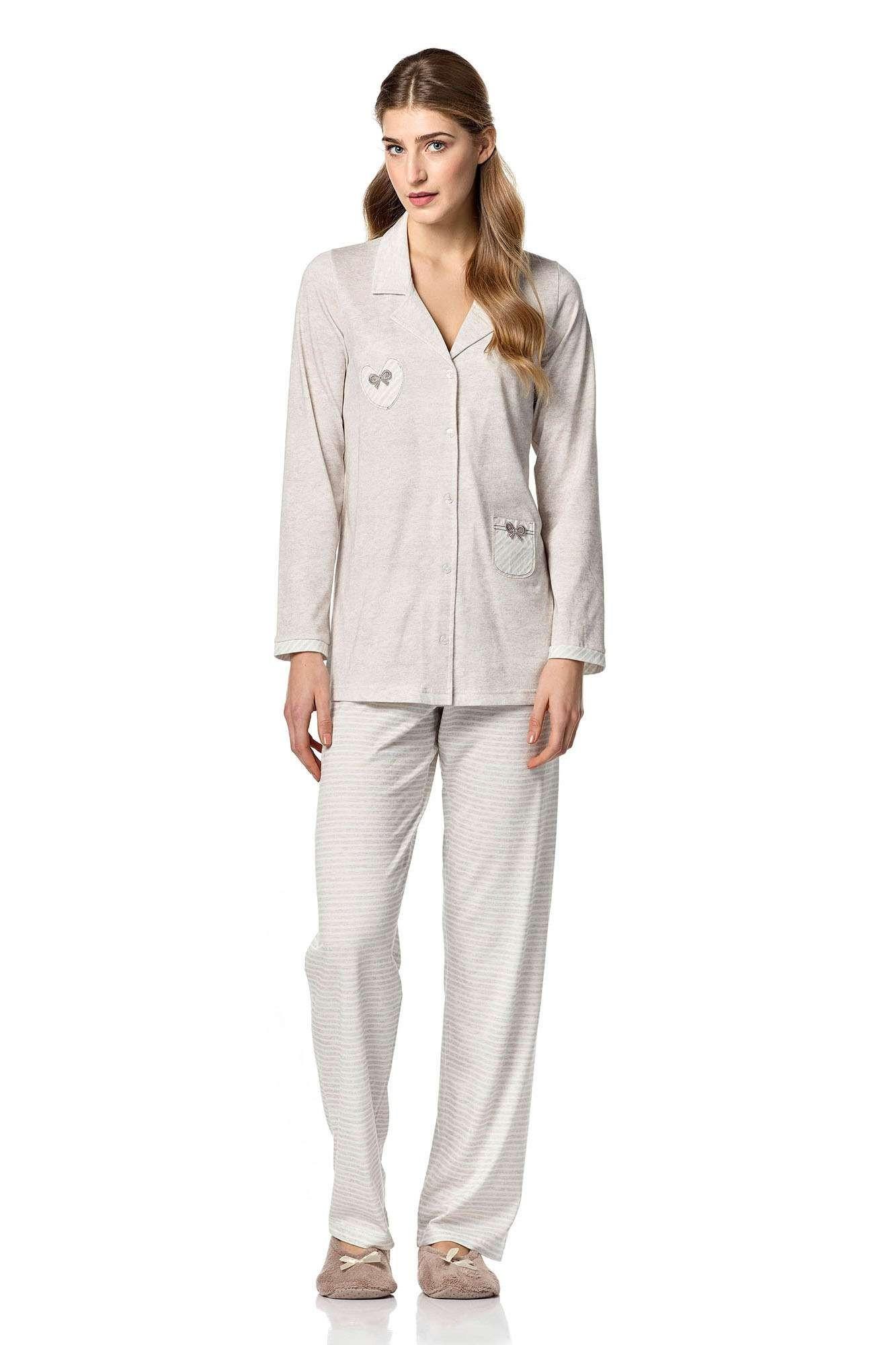 Dámské pyžamo 4749 - Vamp Barva: béžová, Velikost: XL