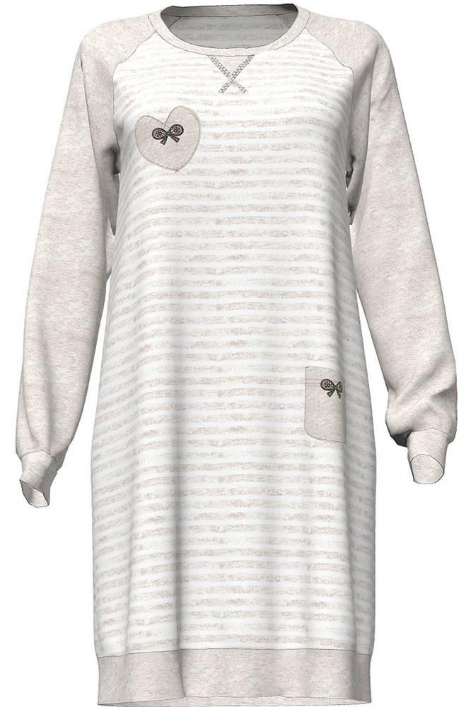 Dámská noční košile 4744 - Vamp Barva: béžová, Velikost: L
