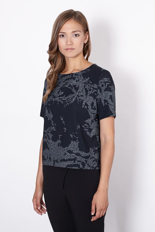 Dámská halenka 10-034 - Click Fashion černá s potiskem 44