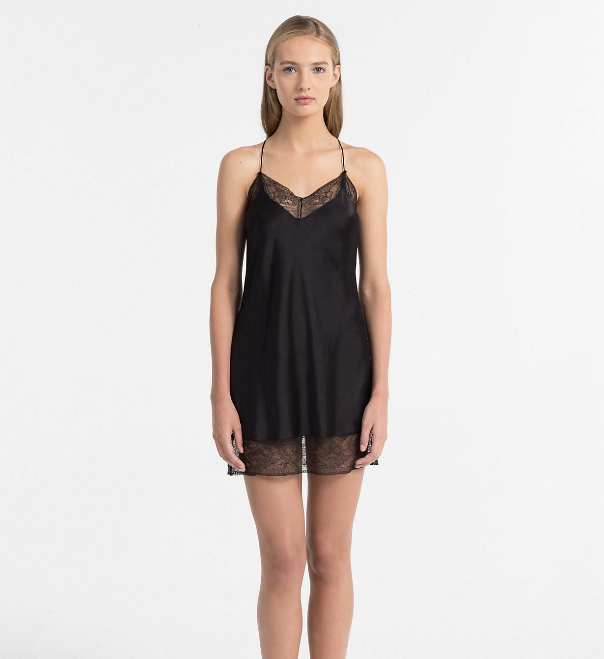 Dámská noční košilka QS5861E - Calvin Klein Barva: šedá, Velikost: L