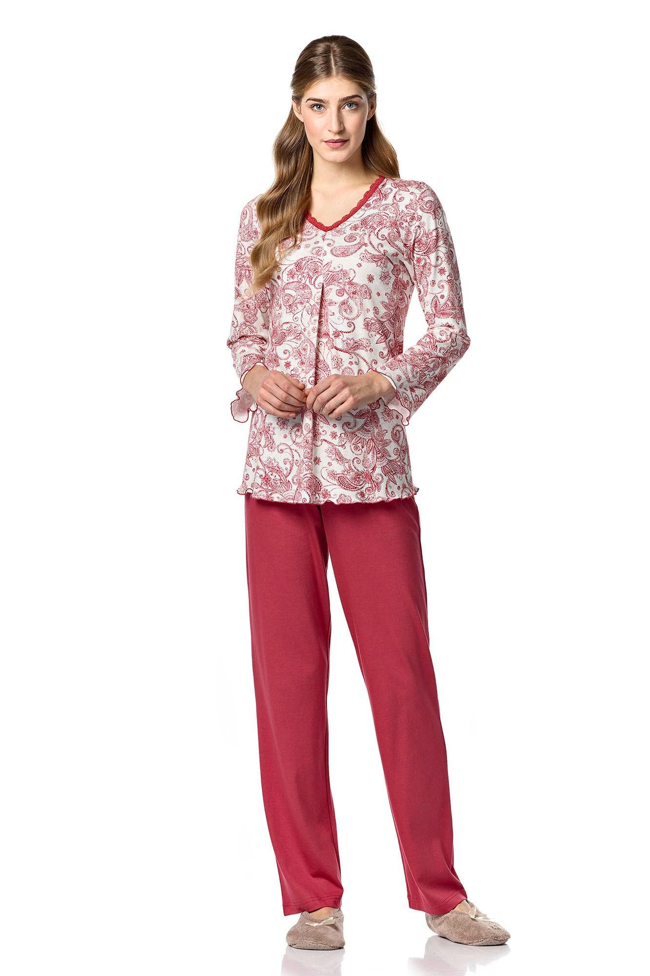 Dámské pyžamo 10-4701 - Vamp Barva: vínová, Velikost: M