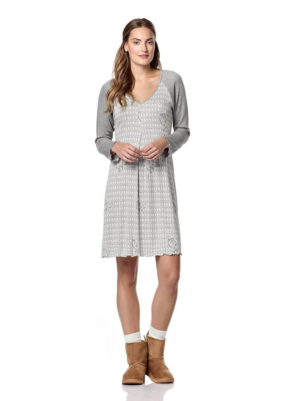 Dámská noční košile 10-4846 - Vamp Barva: šedá, Velikost: L