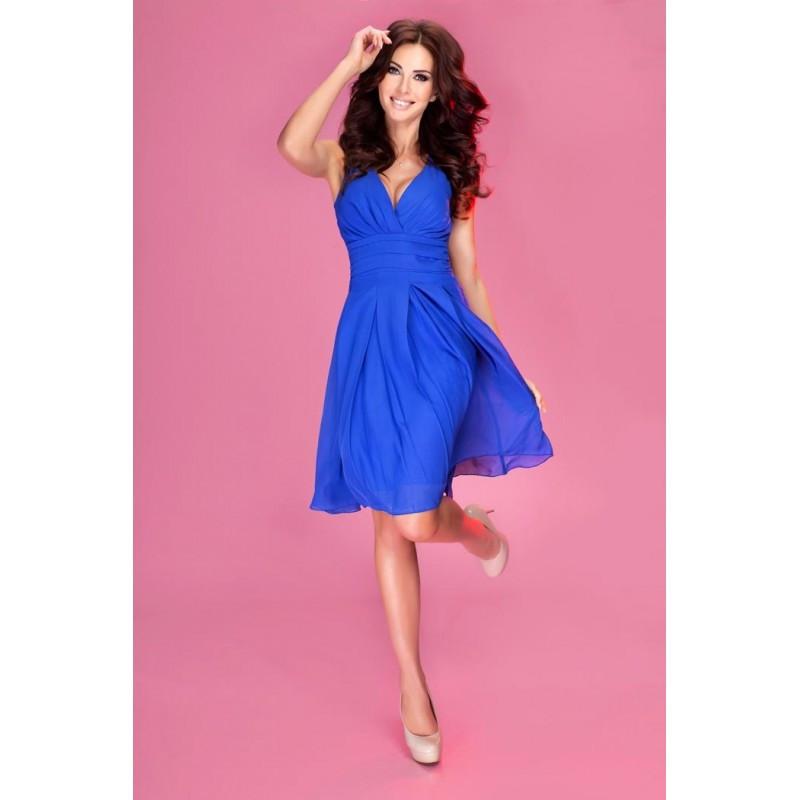 Dámské šaty 35-1 Numoco Barva: královská modř, Velikost: L