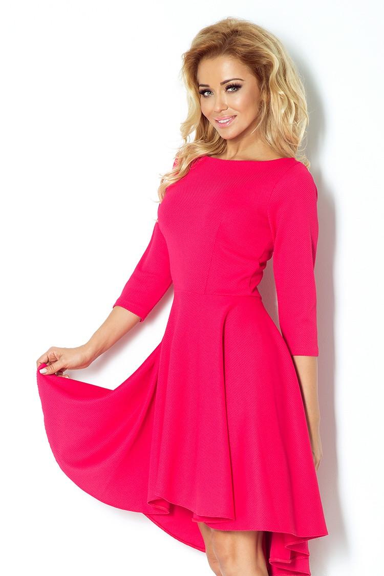 Dámské šaty s 3/4 rukávy 90-2 - Numoco Barva: růžova, Velikost: S