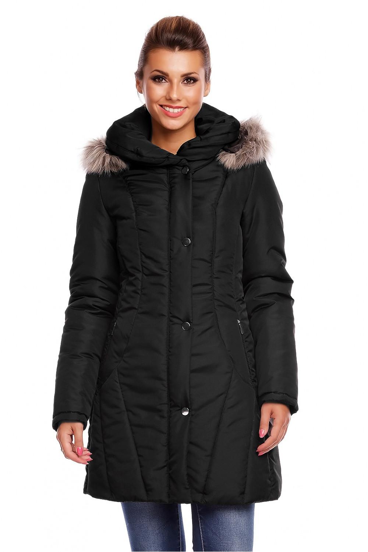 Dámský prošívaný kabát model 63554 - Cabba Barva: černá, Velikost: 48