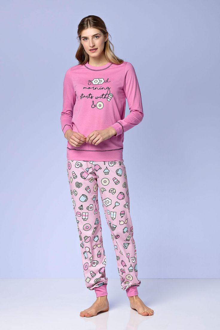 Dámské pyžamo 4972 - Vamp Barva: růžová, Velikost: S