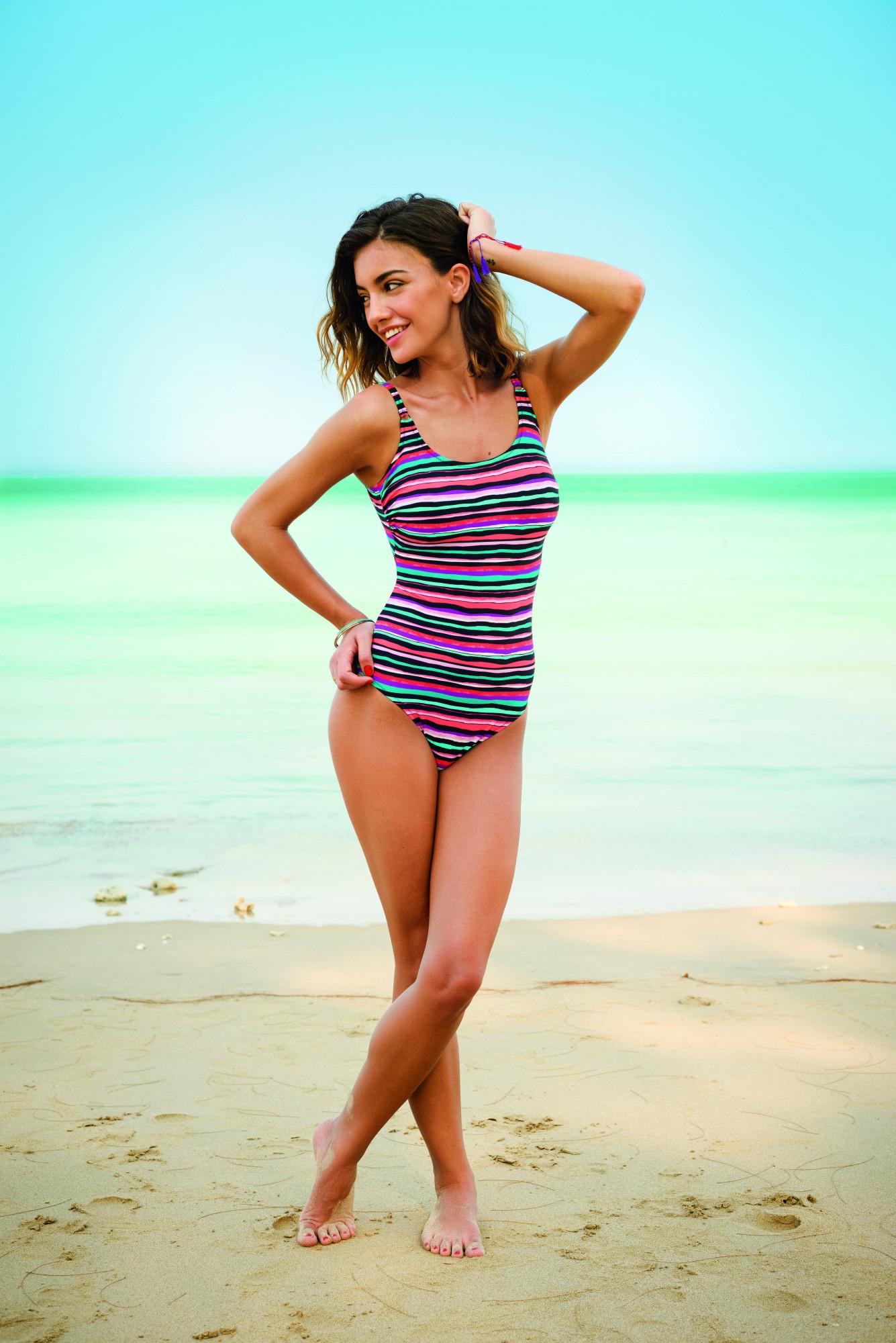 Jednodílné plavky Estelle L7 7763 - Anita Barva: vícebarevná, Velikost: 42F