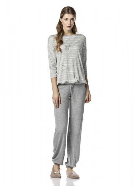 Dámské pyžamo 10-4842 - Vamp Barva: šedá, Velikost: S