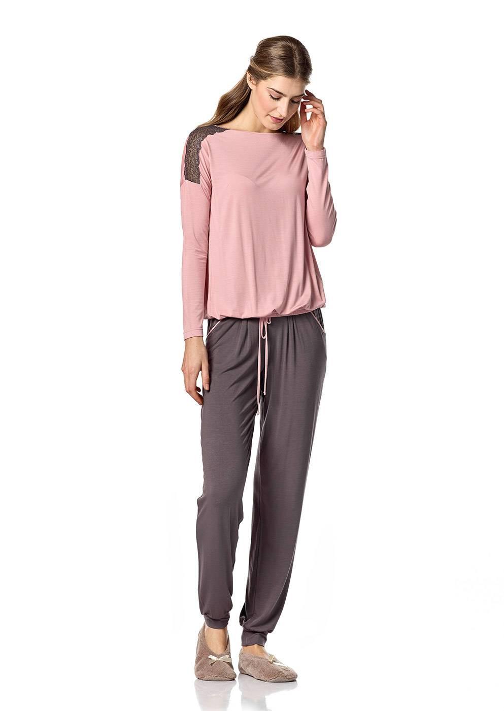 Dámské pyžamo 10-4761 - Vamp Barva: starorůžová, Velikost: M