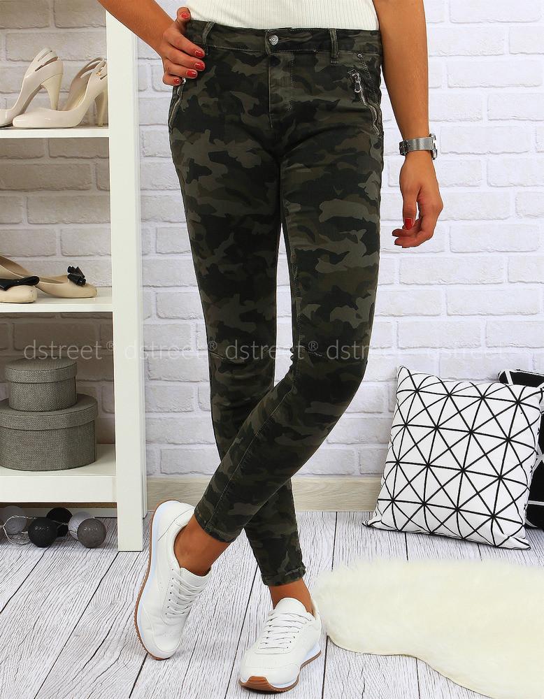 Dámské kalhoty L/1902A - Premium Fashion Barva: zelená, Velikost: S