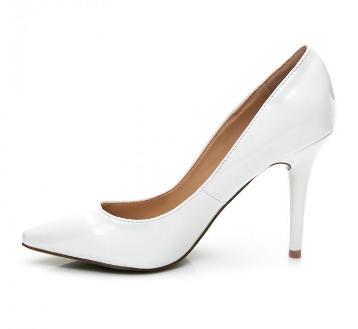 Dámské lakované lodičky PO-41W / D3-L44 - Style shoes Barva: bílá, Velikost: 40