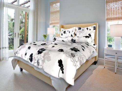 Bavlněné povlečení Tapeta Barva: černo - bílá