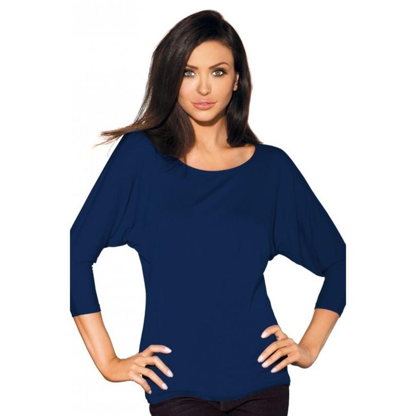 Dámská halenka MOMO - BABELL Barva: tmavě modrá, Velikost: S