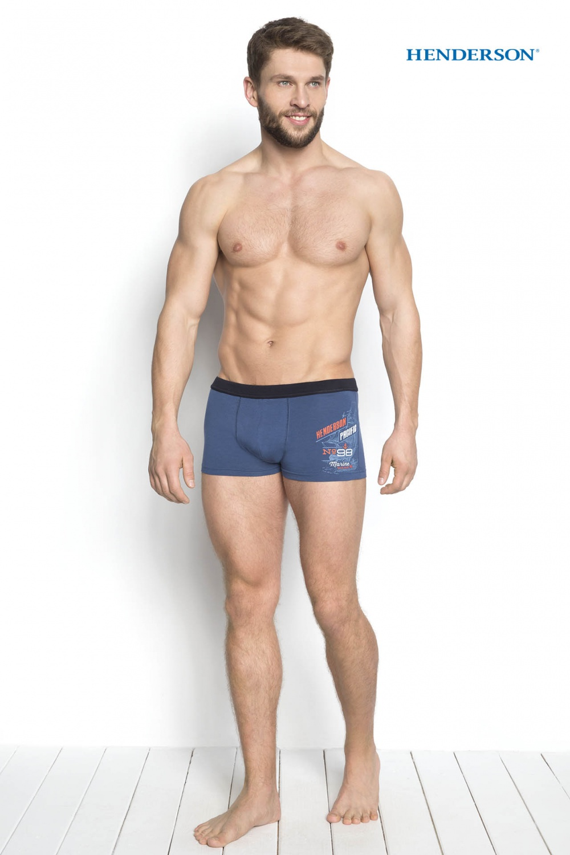 Pánské boxerky 34269 - Henderson Barva: modrá-vzor, Velikost: M