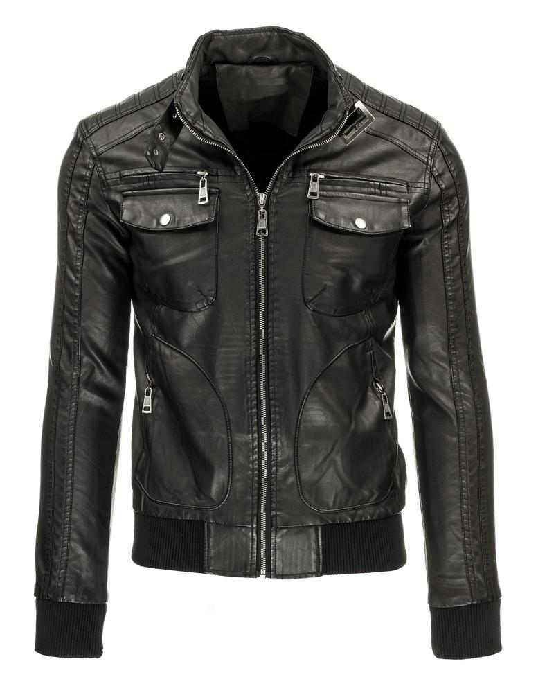 Pánská kožená bunda TG 2635 (tx1279) - Andrexx Barva: černá, Velikost: XXL