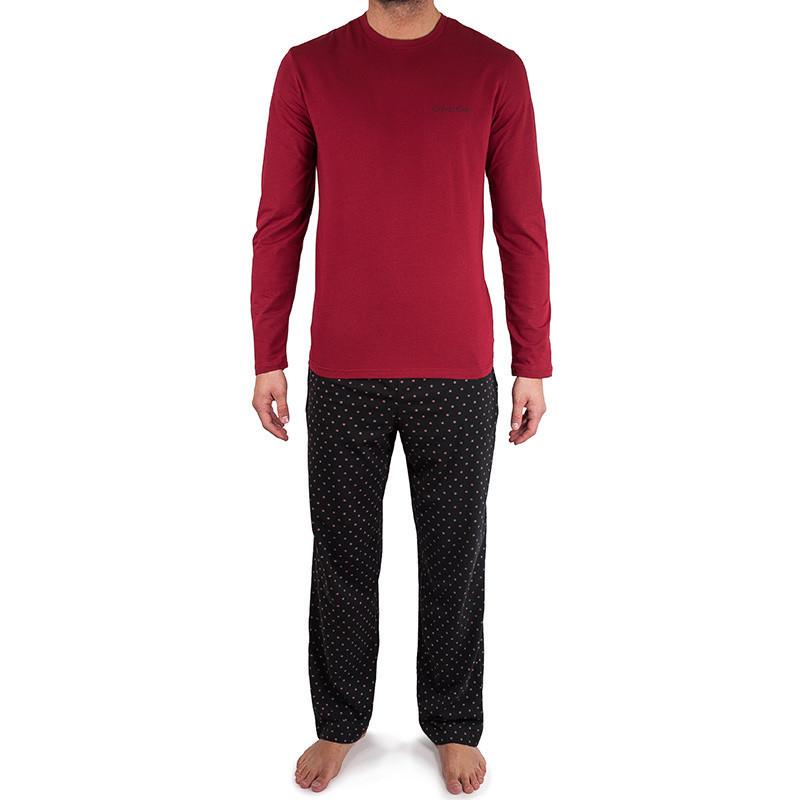 Pánské pyžamo NM1469E - Calvin Klein Barva: červená - černá, Velikost: L