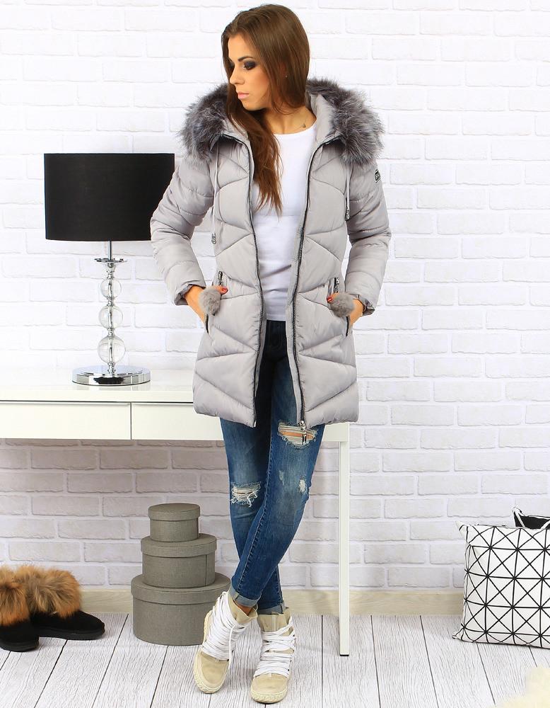 Dámská zimní bunda s kapucí BH-1764 (ty0181) - Forever Barva  černá a3f331deea