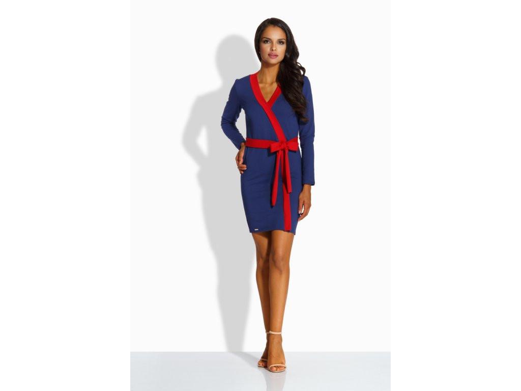 Dámské šaty L221 - Lemoniade Barva: modro-červená, Velikost: M