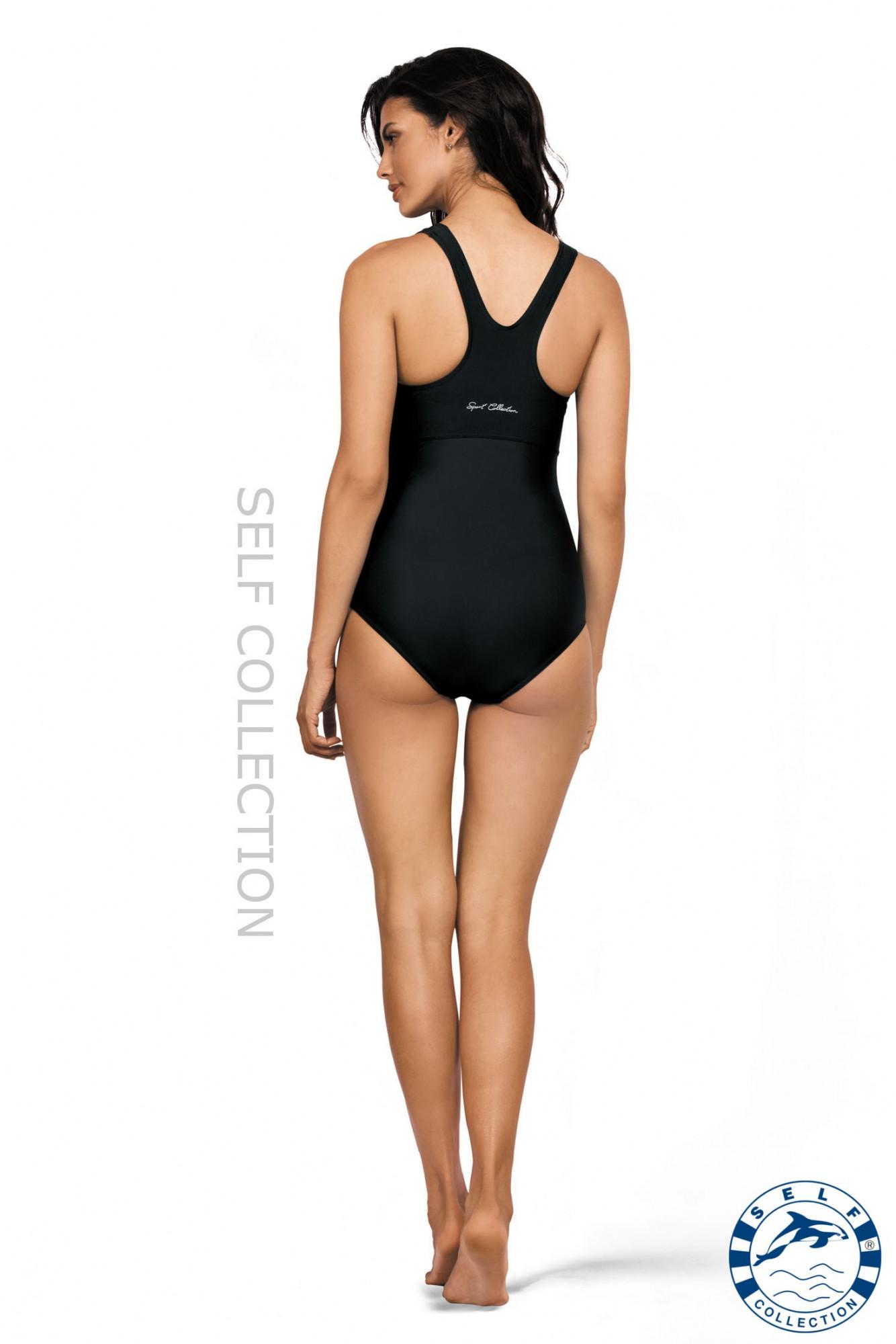 Jednodílné plavky S41 - Self černá XL