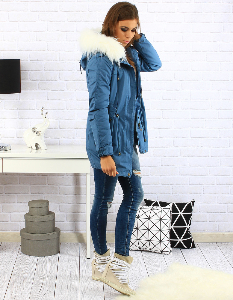 Dámská bunda parka D-256 (ty0142) - Z-Design Barva: modrá, Velikost: M