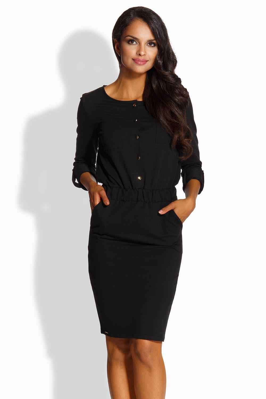 Dámské šaty L224 - Lemoniade Barva: černá, Velikost: M