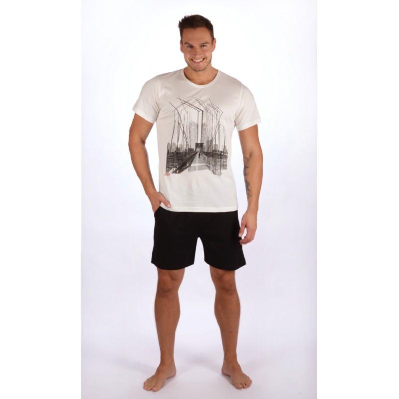 Pánské pyžamo 4182 - Gazzaz Barva: bílo-černá, Velikost: L