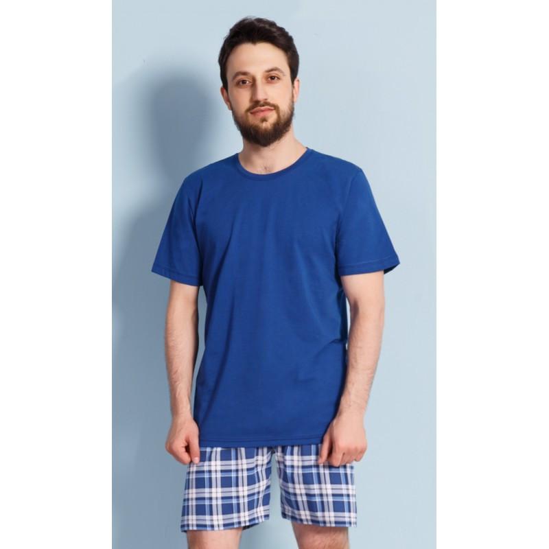 Pánské pyžamo 3176 - Gazzaz Barva: modrá, Velikost: L