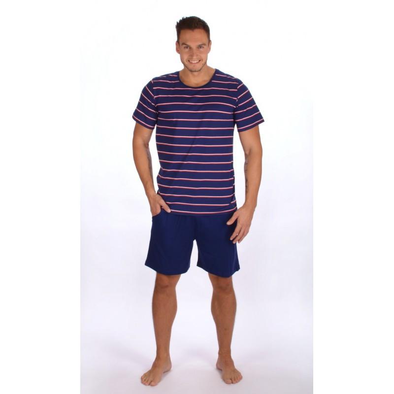 Pánské pyžamo 2367 - Gazzaz Barva: tmavě modrá/proužky, Velikost: L
