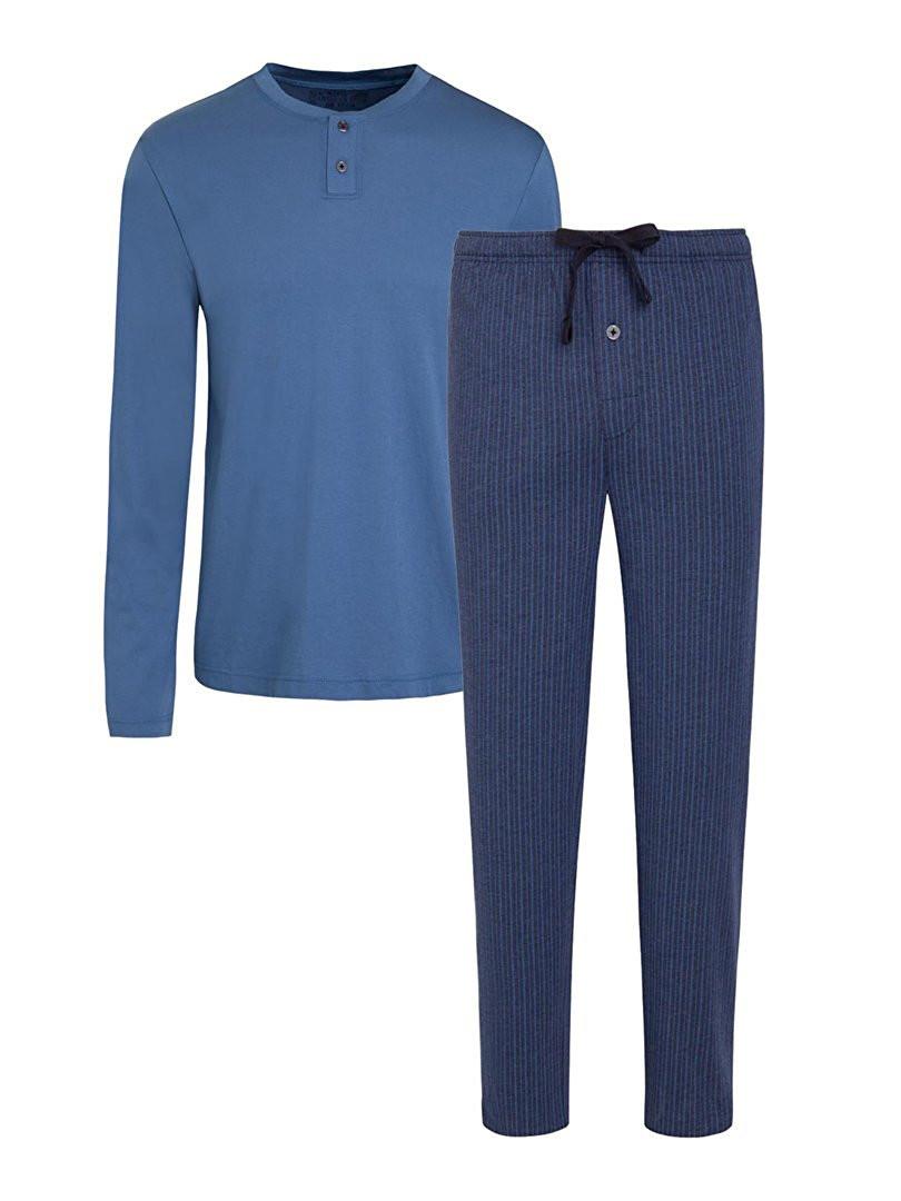 Pánské pyžamo 500009 - Jockey Barva: modrá, Velikost: XXL