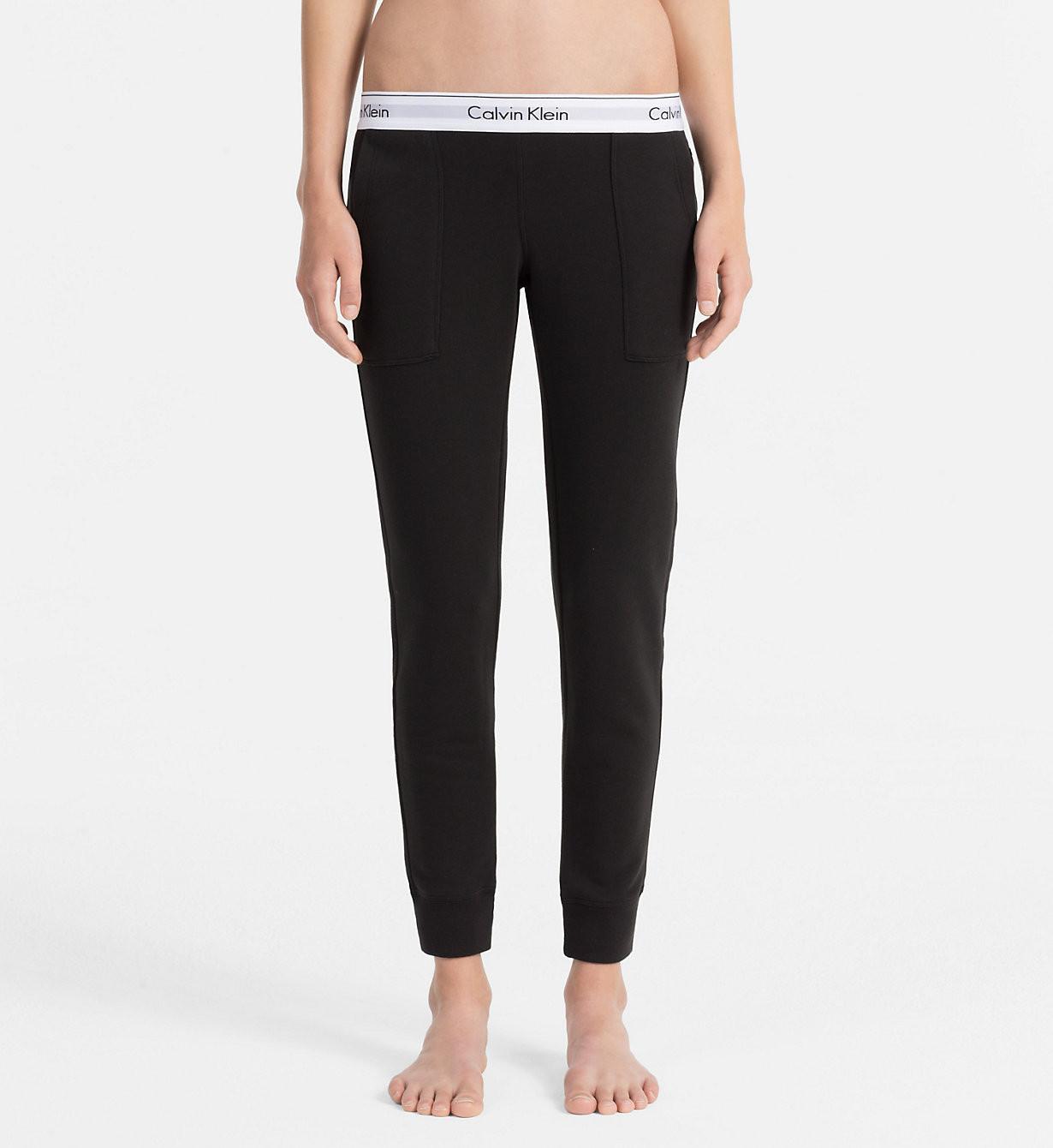 Dámské tepláky QS5716E-001 černá - Calvin Klein černá M