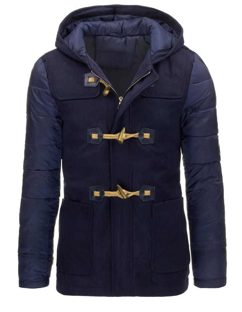 Pánský zimní kabát A-83937 (tx1364) - Bosline Barva: granátová, Velikost: L