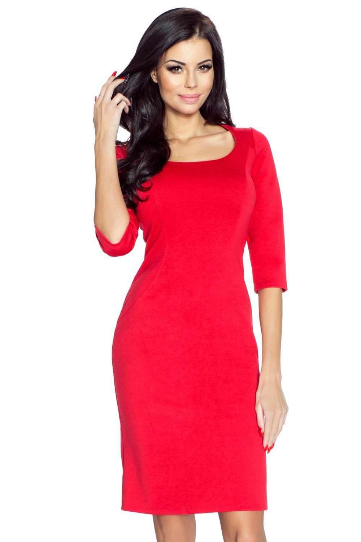 Dámské šaty M41624 - Bergamo Barva: vínová, Velikost: S