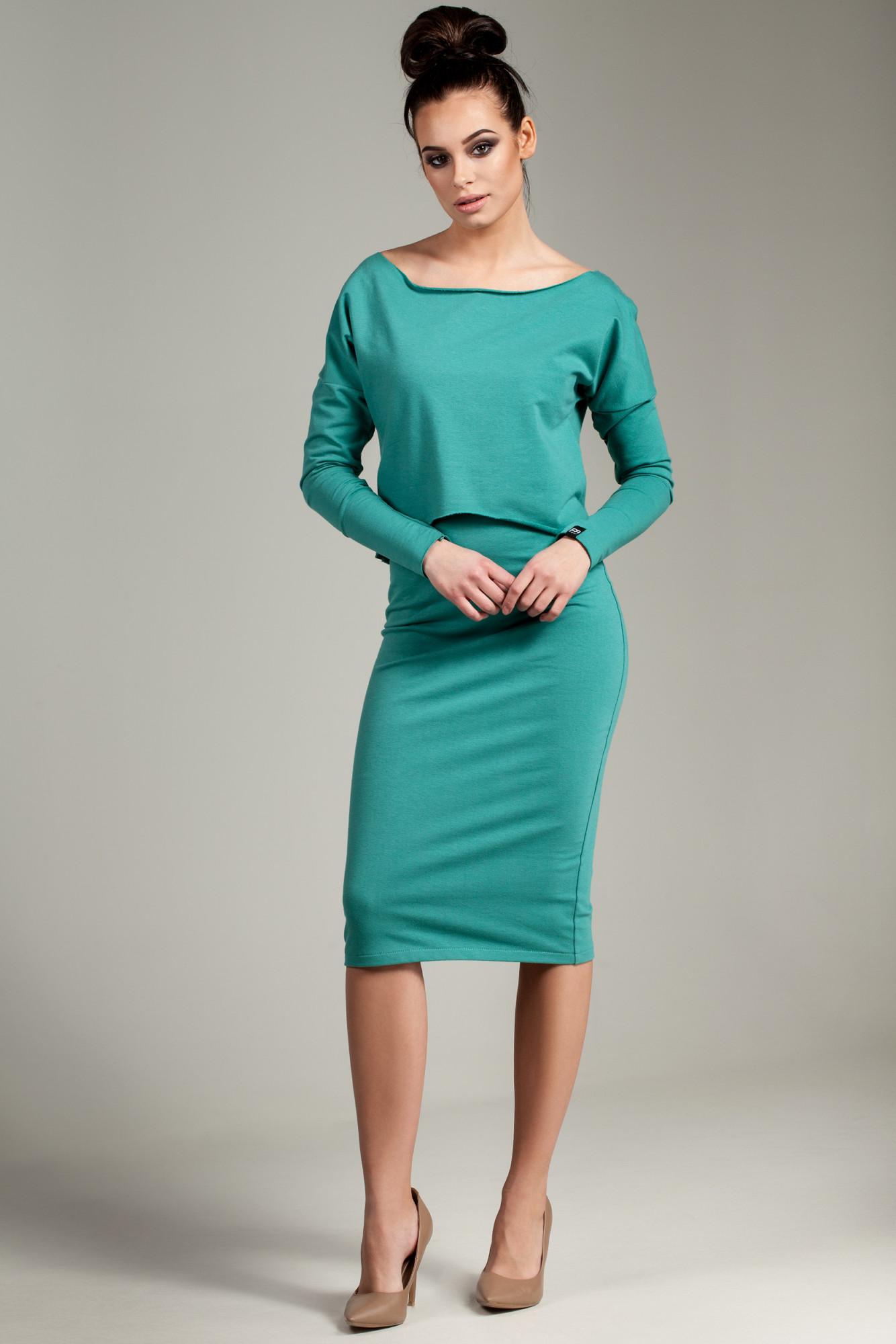 Dámské šaty B001 - BEwear Barva: zelená, Velikost: 42