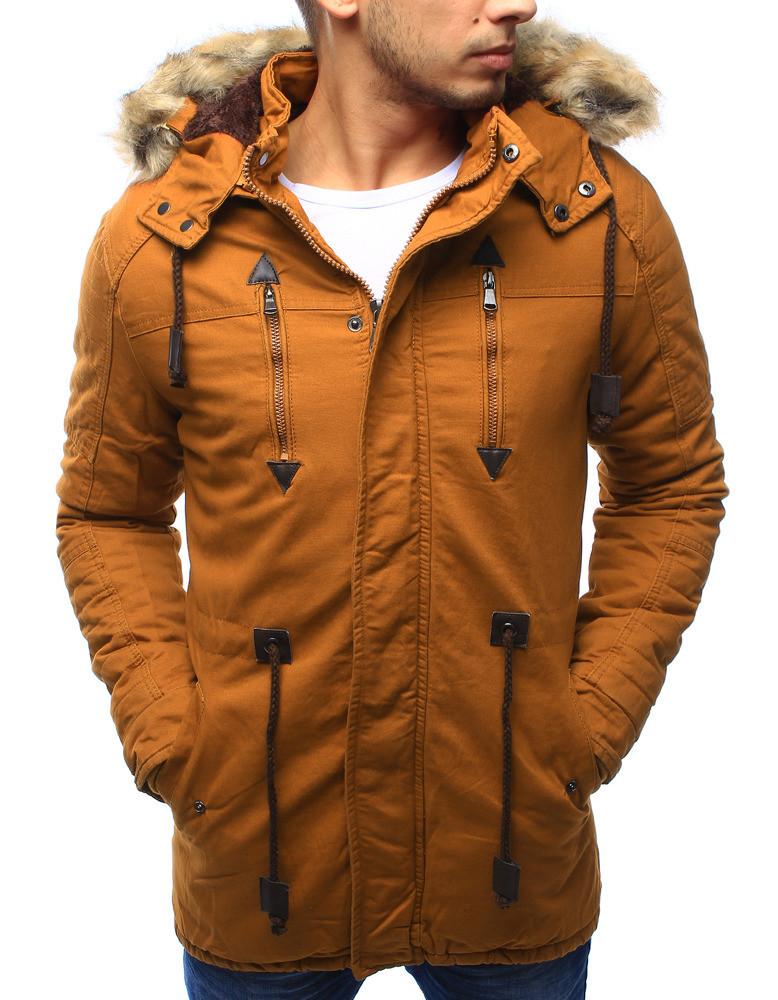 Pánská zimní bunda s kapucí Z-6682 / 6681 (tx1990) - ROSSO černá L