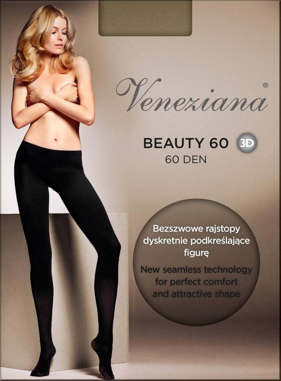 Punčocháče Beauty 3D 60 den - Veneziana Barva: černá, Velikost: 4